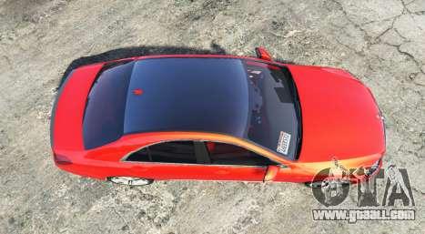 GTA 5 Mercedes-Benz S63 red brake caliper [add-on] back view
