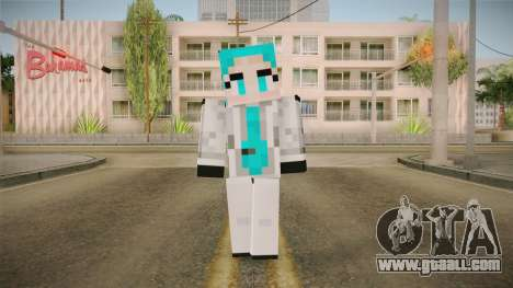 Minecraft Miku Skin for GTA San Andreas second screenshot