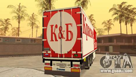 Trailer Red & White for GTA San Andreas back left view