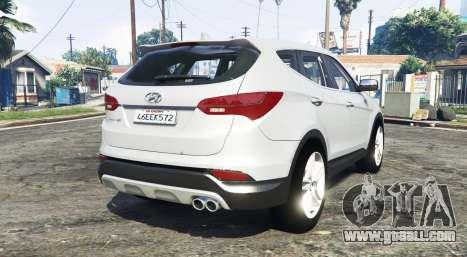 GTA 5 Hyundai Santa Fe (DM) 2013 [replace] rear left side view