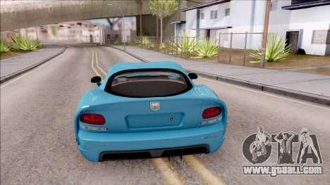 Dodge Viper SRT-10 for GTA San Andreas back left view
