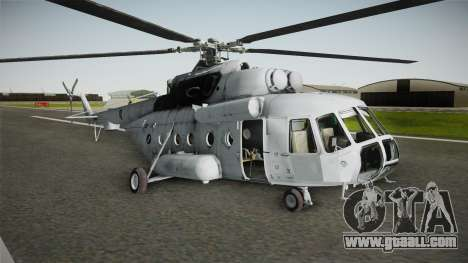 Mil Mi-171sh Croatian Air Force for GTA San Andreas back left view