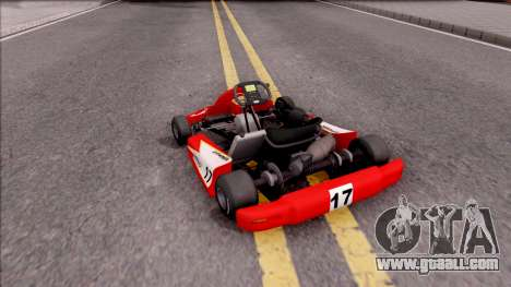 Shifter Kart 125cc for GTA San Andreas left view