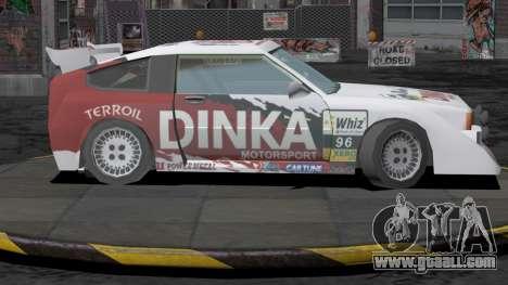 Dinka Blista Compact Rally Edition for GTA San Andreas left view