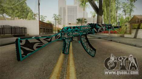 CS: GO AK-47 Frontside Misty Skin for GTA San Andreas second screenshot