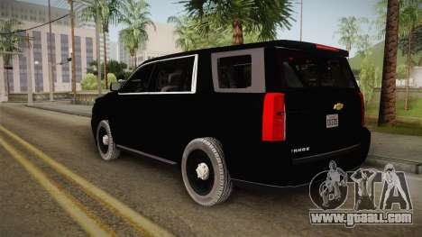 Chevrolet Tahoe 2015 Police for GTA San Andreas left view