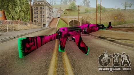 CS: GO AK-47 Neon Revolution Skin for GTA San Andreas second screenshot