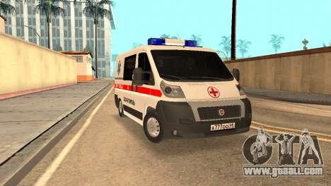 Fiat Ducato Ambulance for GTA San Andreas
