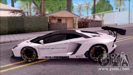 Lamborghini Aventador LP700-4 LB Walk Custom for GTA San Andreas left view