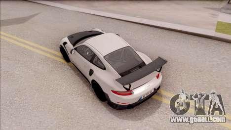 Porsche 911 GT2 RS 2017 EU Plate for GTA San Andreas back view
