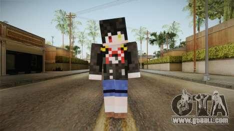 Minecraft Tokiasaki Kurumi Skin for GTA San Andreas second screenshot
