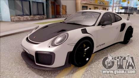 Porsche 911 GT2 RS 2017 EU Plate for GTA San Andreas