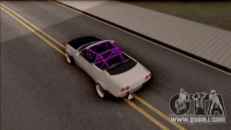 Nissan Skyline R33 Cabrio Drift Rocket Bunny for GTA San Andreas back view