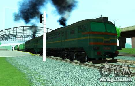 Freight locomotive 2M62 1184 for GTA San Andreas