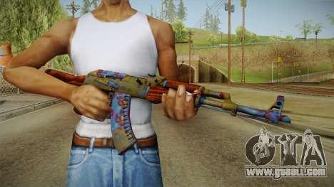 CS: GO AK-47 Case Hardened Skin for GTA San Andreas third screenshot