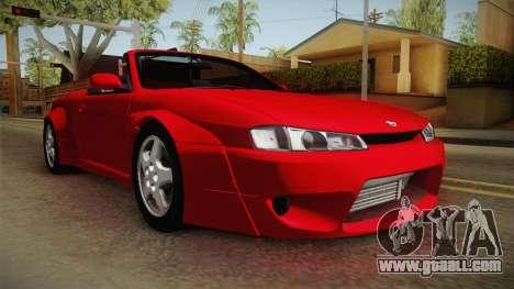 Nissan 200SX Cabrio Tuned for GTA San Andreas right view