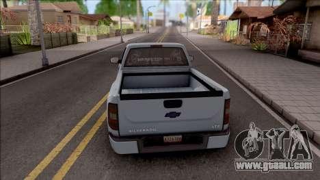 Chevrolet Silverado Single Cab for GTA San Andreas back left view