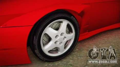 Nissan 200SX Cabrio Tuned for GTA San Andreas back view