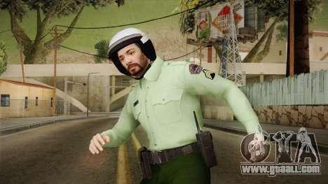 Iranian Cop Biker Skin for GTA San Andreas