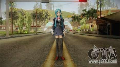 Asuna Yuuki School Uniform v4 for GTA San Andreas second screenshot