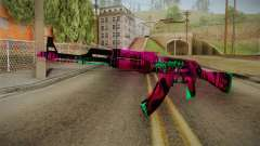 CS: GO AK-47 Neon Revolution Skin for GTA San Andreas