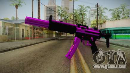 Purple MP5 for GTA San Andreas