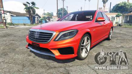 Mercedes-Benz S63 red brake caliper [add-on] for GTA 5