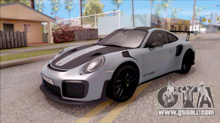 Porsche 911 GT2 RS Weissach Package EU Plate for GTA San Andreas