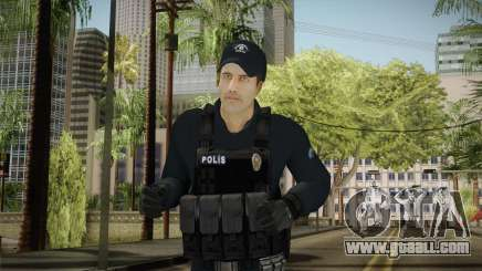 Turkish Riot Police Officer - Long Sleeves for GTA San Andreas