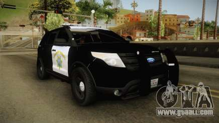 Ford Explorer CHP 2013 for GTA San Andreas