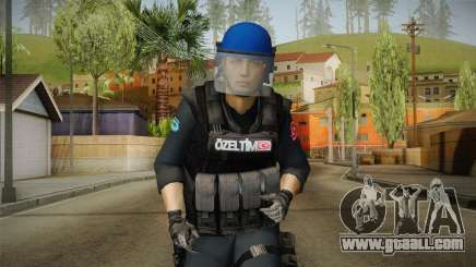 Turkish Police-Rapid Response Unit with Gear for GTA San Andreas
