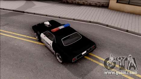 Plymouth Hemi Cuda 426 Police LVPD 1971 v2 for GTA San Andreas back view
