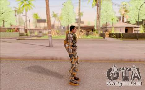 Degtyarev in the exoskeleton of Freedom of S. T. for GTA San Andreas third screenshot