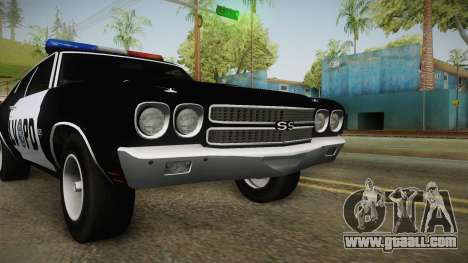 Chevrolet Chevelle SS Police LVPD 1970 v2 for GTA San Andreas side view