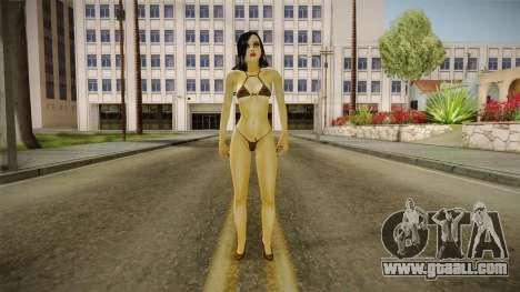 Algelia Black with Lara Croft mouth v1 for GTA San Andreas