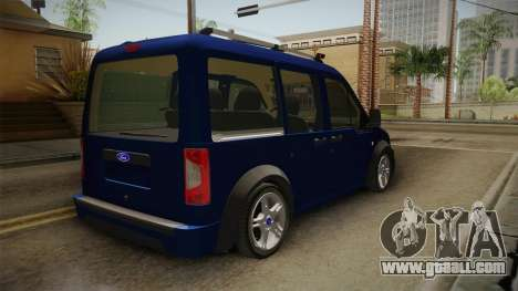 Ford Tourneo Connect 2012 for GTA San Andreas right view