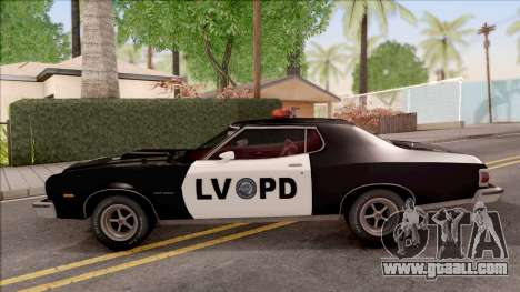 Ford Gran Torino Police LVPD 1975 v2 for GTA San Andreas left view