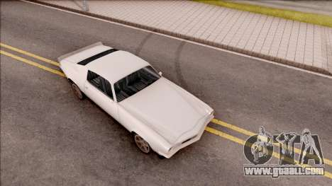Chevrolet Camaro Z28 1970 SA Style Low Poly for GTA San Andreas right view
