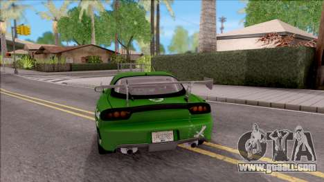 Mazda RX-7 NFS Undercover v2 for GTA San Andreas back left view