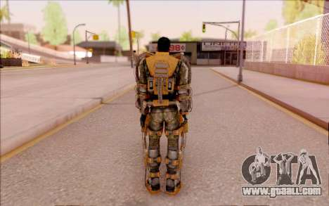 Degtyarev in the exoskeleton of Freedom of S. T. for GTA San Andreas forth screenshot