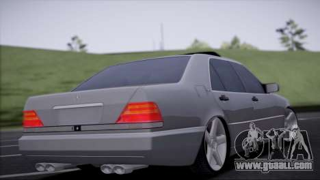 Mercedes-Benz W140 for GTA San Andreas left view