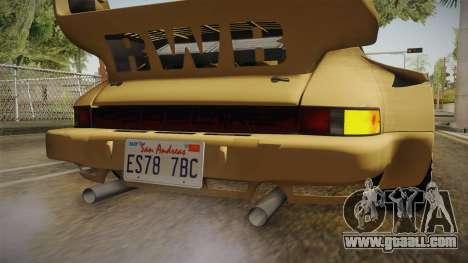 Porsche 911 Carrera RSR for GTA San Andreas interior