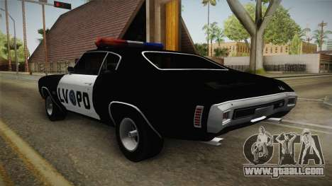Chevrolet Chevelle SS Police LVPD 1970 v2 for GTA San Andreas right view