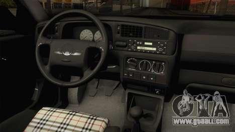 Volkswagen Jetta 1995 for GTA San Andreas inner view
