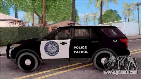 Ford Explorer Police San Andreas Patrol for GTA San Andreas