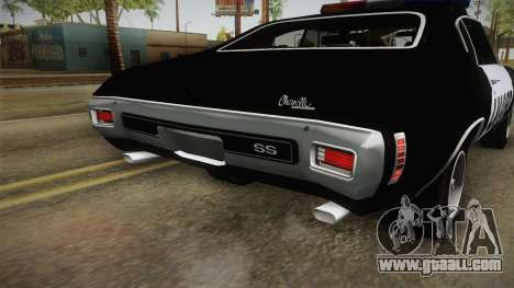 Chevrolet Chevelle SS Police LVPD 1970 v2 for GTA San Andreas interior
