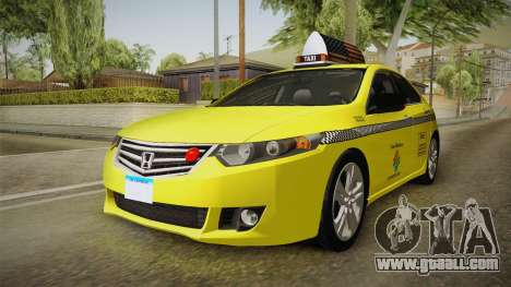 Honda Accord 2010 Taxi for GTA San Andreas back left view