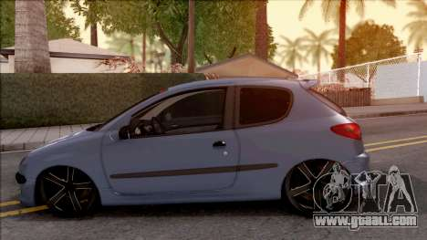 Peugeot 206 FR for GTA San Andreas left view