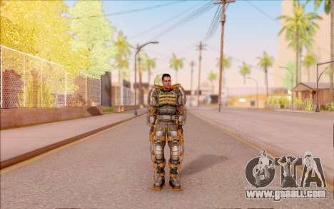 Degtyarev in the exoskeleton of Freedom of S. T. for GTA San Andreas second screenshot