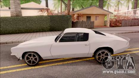 Chevrolet Camaro Z28 1970 SA Style Low Poly for GTA San Andreas left view